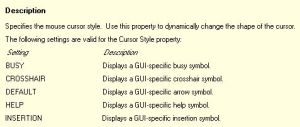 Detail Information about Cursor_Style